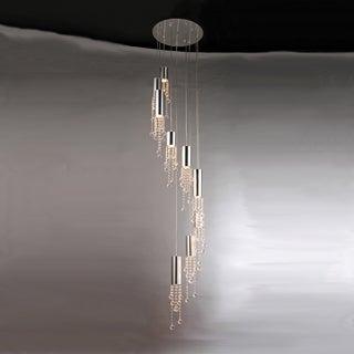 Charles Drop-down Crystal Flush 9-light Fixture