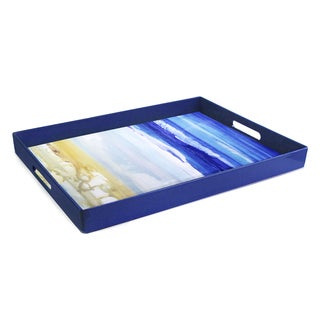Blue Art Rectangular Tray