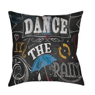 Thumbprintz Chalkboard Dance in the Rain Throw/ Floor Pillow