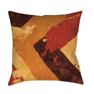 Thumbprintz Splatter No I Red Floor Pillow