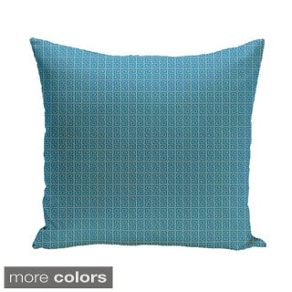 18 x 18-inch Two-tone Geometric Decorative Pillow