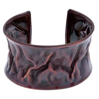 Antiqued Copper Wave Cuff Bracelet (India)