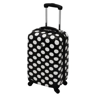 Heys USA 20-inch Polka Dot Lightweight Carry-on Spinner Upright Suitcase with Bonus Combination Lock