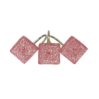 Crystal Pink Shower Curtain Hooks (Set of 12)