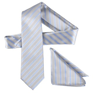 Vance Men's Silk Touch Microfiber Patterned Tie and Hanky Set