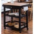 Furniture of America Antennie Black Mobile Kitchen Cart