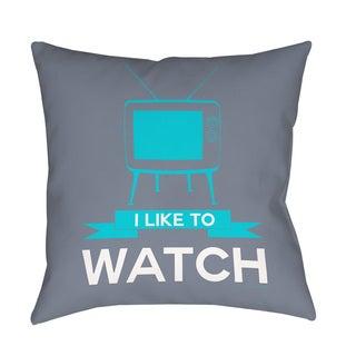 Thumbprintz I like to Watch Indoor/ Outdoor Pillow