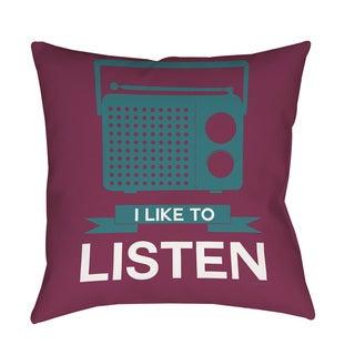 Thumbprintz I Like to Listen Indoor/ Outdoor Pillow