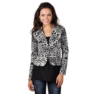 Hailey Jeans Co. Junior's Printed One-button Blazer