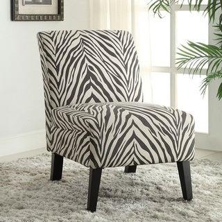 Linon Linen Zebra Lily Chair