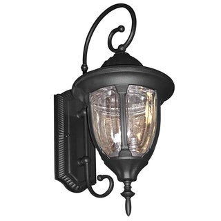 2-light Outdoor Wall Sconce with Clear Seeded Glass