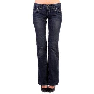 Stitch's Women's Blue Boot Cut Denim Jeans