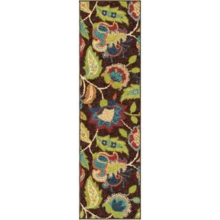 Indoor/ Outdoor Promise Basil Brown Rug (2'3 x 8')