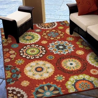 Promise Salsalito Red Rug (5'2 x 7'6)