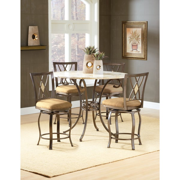 Brookside Counter Height 5 Piece Dining Set With Stools