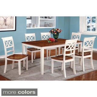 Furniture of America Betsy Joan Duo-Tone 7-Piece Dining Set