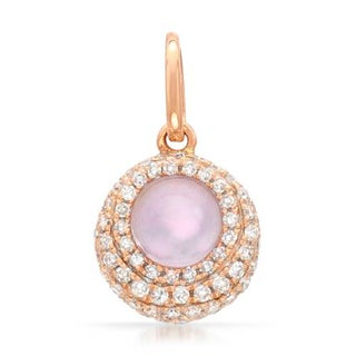 Vida Pendant with 0.64ct TW Amethyst, Diamonds and Mother of pearl in 14K Rose Gold