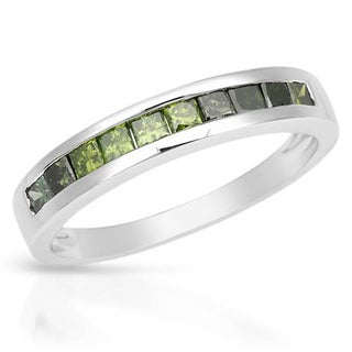 Channel Ring with 0.58ct TW Princess-cut Diamonds Crafted in White Gold