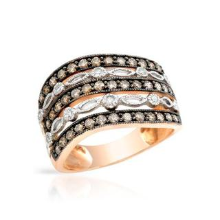 Ring with 0.96ct TW Diamonds of 14K Two-tone Gold