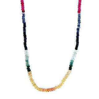 Necklace with 43 1/2ct TW Sapphires of 18K Yellow Gold