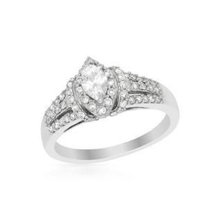 14k White Gold 0.83ct TDW Diamond Engagement Ring