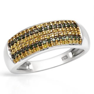 Ring with 0.52ct TW , Diamonds of 14K/925 Gold-plated Silver