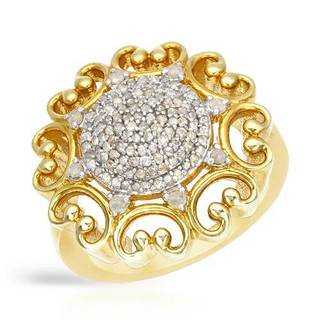 Ring with 0 1/2ct TW Diamonds in Two-tone Gold