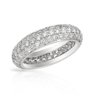 14k White Gold 2.77ct TDW Eternity Diamond Wedding Band Size 6