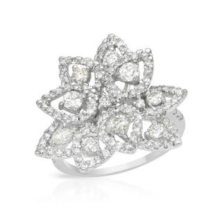 Cocktail Ring with 1.57ct TW Diamonds in 18K White Gold