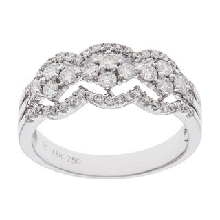 Ring with 0.81ct TW Diamonds 18K White Gold