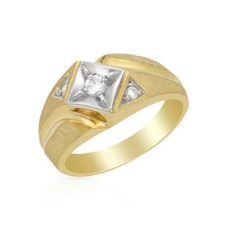 Usa Ring with Diamonds 14K Two-tone Gold