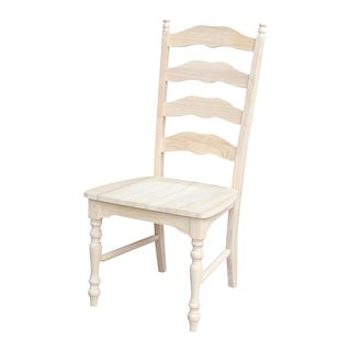Unfinished Solid Parawood Maine Ladderback Chair (Set of 2)