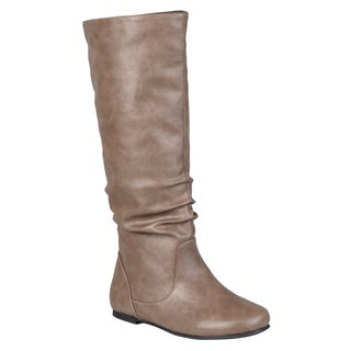 Journee Collection Women's 'Jayne' Regular and Wide-calf Mid-Calf Slouch Riding Boots
