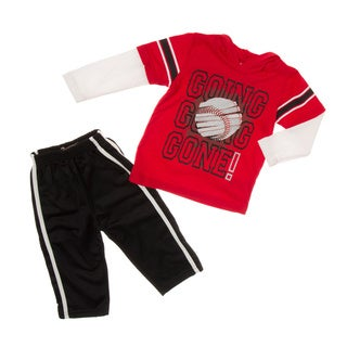 Kids Headquarters Toddler Boy Baseball Hooded 2-piece Clothing Set