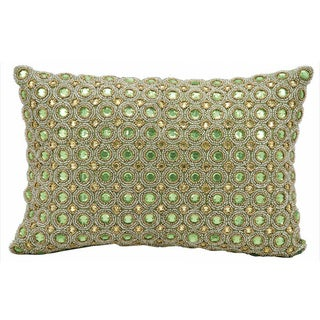 Kathy Ireland by Nourison Beaded Green 10 x 14 Throw Pillow