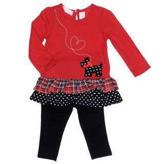 Kids Headquarters Infant Girl 2-piece Scotty Dog Tunic with Leggings