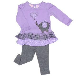 Kids Headquarters Infant Girl 2-piece Elephant Tunic with Leggings