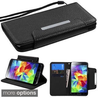 INSTEN Magnetic Flap Wallet Lanyard Stand Leather Phone Case Cover for Samsung Galaxy S5