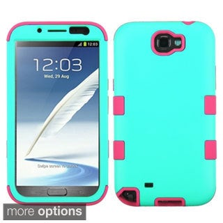 INSTEN Colorful Shock Proof PC Soft Silicone Hybrid Phone Case Cover for Samsung Galaxy Note 2
