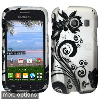INSTEN Rubberized Pattern Dust Proof Hard Plastic Phone Case Cover for Samsung Galaxy Ace Style