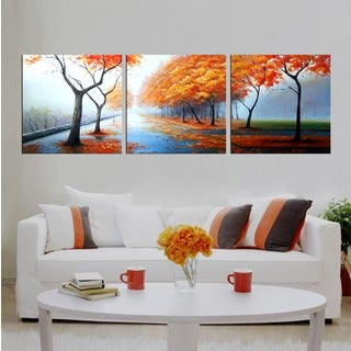 Hand-painted 'Gifts Along the Way' 3-piece Gallery-wrapped Canvas Art Set