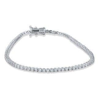 14k White Gold 3ct TDW Flexible Diamond Tennis Bracelet (H-I, I2-I3)