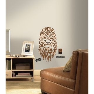 Star Wars Typographic Chewbacca Peel and Stick Giant Wall Decals