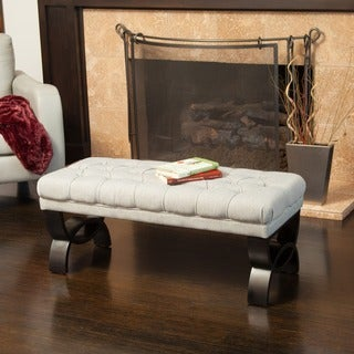 Christopher Knight Home Scarlette Tufted Fabric Ottoman Bench