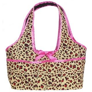 AnnLoren Leopard Print Doll Carrier Tote for 18-inch Dolls