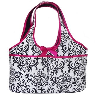 AnnLoren Damask Print Doll Carrier Tote for 18-inch Dolls