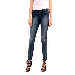 Rich & Skinny Women's Split Victory Coated Skinny Jeans