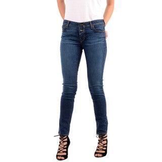 Rich & Skinny Women's Powerhouse Blue Button-up Skinny Jeans