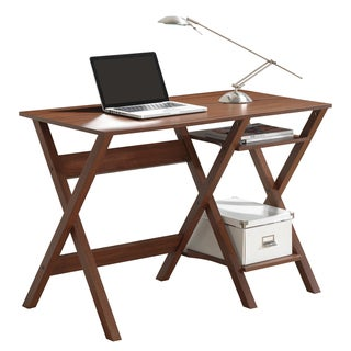 Modern Designs X-Leg Workstation with Side Shelves