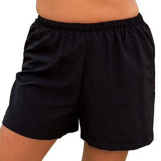 Swimsuits For All Women's Plus Size Black Beach Shorts